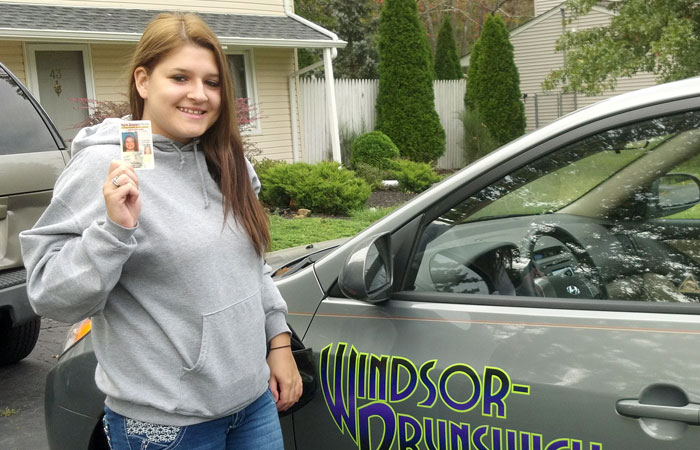 Another Satisfied Windsor Brunswick Driving School Graduate