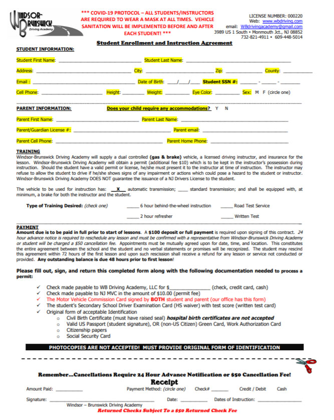 Click Here to Download the Parent-Student Contract